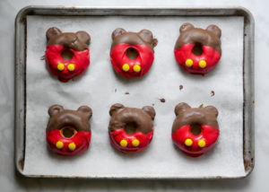 Mickey Mouse Shorts Doughnuts // magicaltreatsathome.com