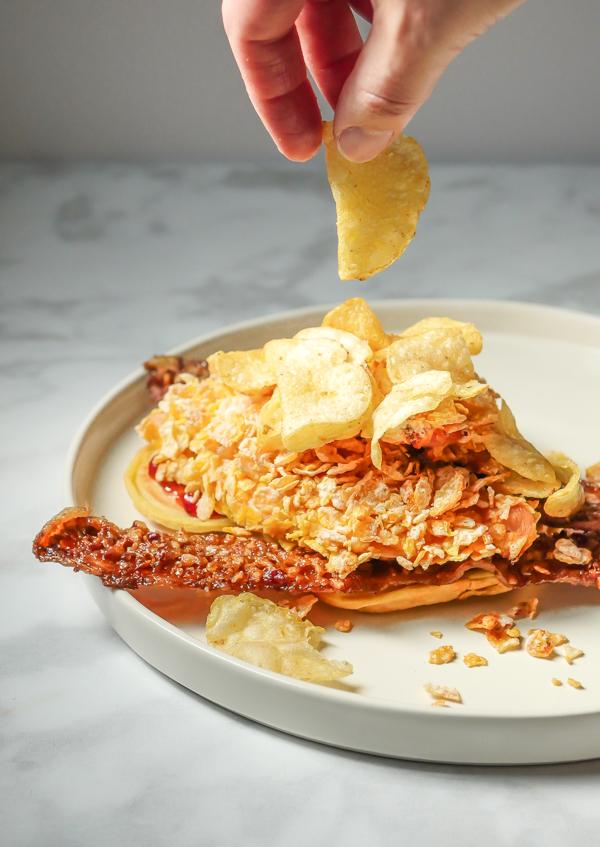 Celebrate Mickey Chicken and Waffles // magicaltreatsathome.com