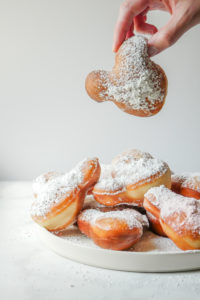 Mickey Mouse Butterscotch Beignets // magicaltreatsathome.com