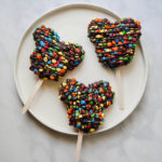 Mickey M&M's Rice Krispie Treat // magicaltreatsathome.com