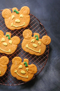 Mickey Mouse Pumpkin Cookie // magicaltreatsathome.com