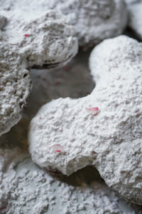 Mickey Mouse Peppermint Beignets // magicaltreatsathome.com