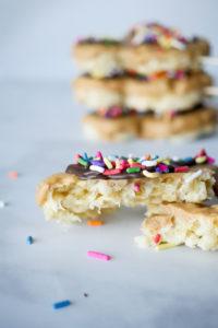 Mickey Mouse Peanut Butter Rice Krispie Treat Pops // magicaltreatsathome.com