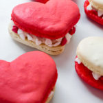 Heart Macarons for Valentine's Day // magicaltreatsathome.com