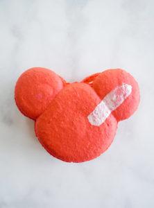 Raspberry Rose Mickey Macaron // magicaltreatsathome.com