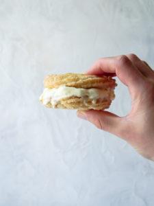 Churro Ice Cream Sandwich // magicaltreatsathome.com