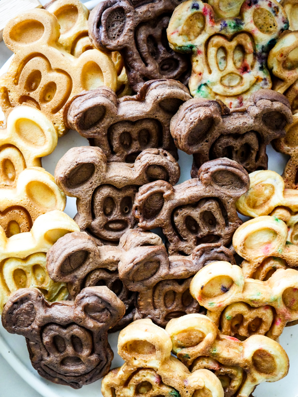 Mickey Mouse Waffles Three Ways // magicaltreatsathome.com
