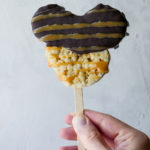 Mickey Mouse Caramel Chocolate Crispy Treat // magicaltreatsathome.com