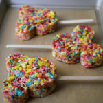 Mickey Mouse Fruity Pebble Crispy Treats // magicaltreatsathome.com