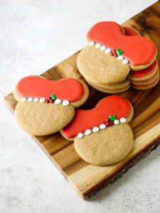 Mickey Holly Christmas Cookies 2020 // magicaltreatsathome.com